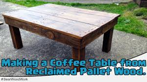 coffee table from reclaimed pallet wood youtube