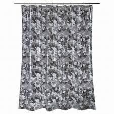 essentials black floral stripe peva vinyl shower curtain bath ebay basics wayfair basics vinyl shower curtain liner reviews wayfair