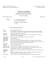 Home Depot Houston Tx 77001 Ma Dep Report 2010 Inactive Landfills Docshare Tips