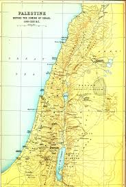 Map Of Israel In Jesus Time Smith Bible Atlas 1915 London