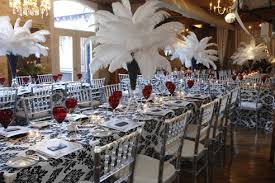 Ball Table Decorations Designing Trendz Topped The Long Dining Tables With Black And