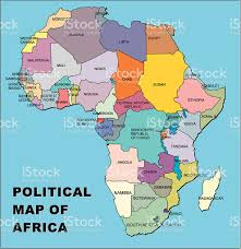 Africa Map Political by Political Map Of Africa In Vector Format Stock Vector Art