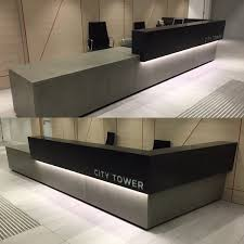 Concrete Reception Desk Woven On Updated Photos Of The Concrete Desk At