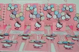 Hello Kitty Birthday Invitation Card Hello Kitty Slide Up Slider Card Balloon Birthday Invitations