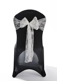 Wedding Chair Sashes Ivory Lace Vintage Wedding Chair Cover Sashes 8