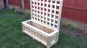 planter trough with trellis youtube