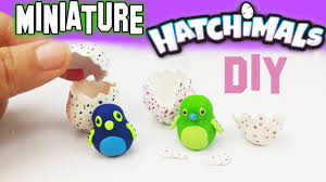 diy miniature hatchimals polymer clay tutorial how to make
