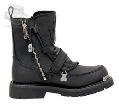 mens black motorcycle riding boots 94167 harley davidson mens distortion black mid cut riding boot