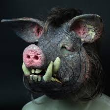 new hand made pro urethane foam full face mask of a boar