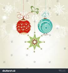 shiny christmas card colorful ornaments vector stock vector