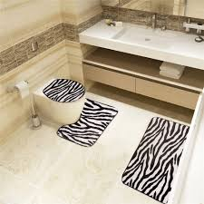 Zebra Bath Rug Buy Zebra Bathroom Set And Get Free Shipping On Aliexpress
