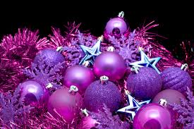 photo of purple christmas decorations free christmas images