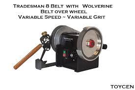 tradesman 8 belt variable speed variable grit tradesman grinder