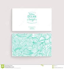 vector simple business card template with decorative ornament