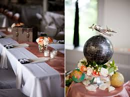 travel themed table decorations vintage travel themed wedding glamour grace