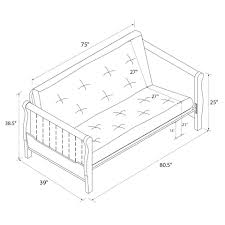 better homes and gardens furniture layout better homes and gardens wood arm futon with 8