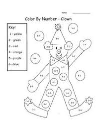 easter color by number addition u0026 subtraction within 10