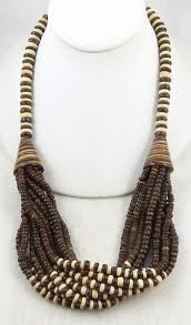 wood beads necklace designs images Philippines wood beads and shell necklace garden party jpg