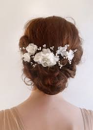 bridal hair comb accessories bridal hair comb white flower 2226176 weddbook