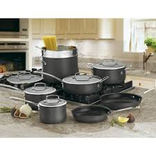 Cuisinart Dishwasher Safe Anodized Cookware Cuisinart Contour Hard Anodized 13 Piece Set Walmart Com