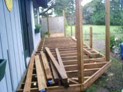 m n construction decks deck construction newport oregon