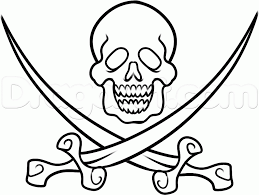 how to draw a pirate flag step by step stuff pop culture free