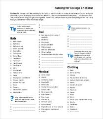 packing checklist template 7 free word pdf documents download