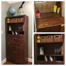 Secretary Desk Diy Ana White Tall Secretary Cabinet With Modifications Diy Projects