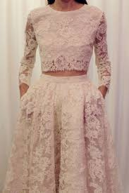 wedding dress brokat two pieces sleeves lace wedding dress two pieces wedding