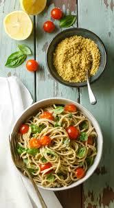 Pasta Recipes Lemon Basil Pasta With Walnut Parmesan Eat Healthy Eat Happy