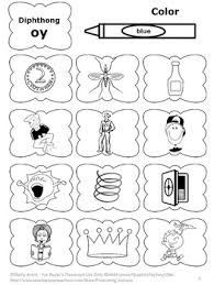 diphthongs worksheet oy vowel sounds word work coloring page