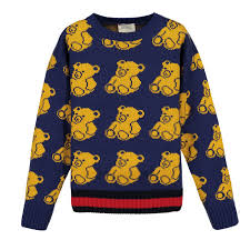 gucci boys knitwear sweater with bears for boys