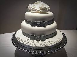 cool 25th anniversary cake ideas pictures romantic 25th