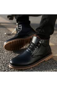 faddish lace up flat ankle boots for men azbro com