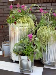ikea planter hack from a cheap trash can crazy craft
