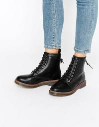 women s lace up biker boots new look lace up ankle biker boots black times 20 50
