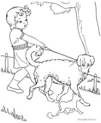 puppy coloring sheets