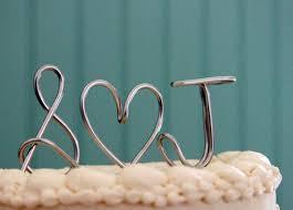 cake topper initials buy a handmade custom monogram or initials metal wedding cake