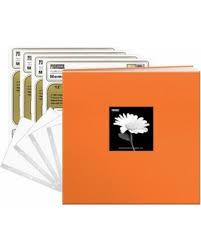 pioneer pioneerphotoalbums deal on pioneer photo albums pioneer 12x12 40 pages tangerine