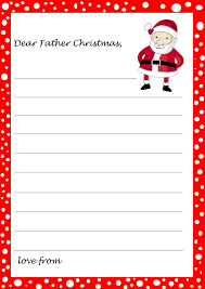 free printable writing paper to santa santa template letter daway dabrowa co