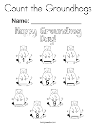 groundhog coloring pages twisty noodle