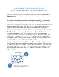 white paper integrated applications portfolio management by ad