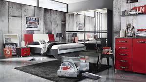 Schlafzimmer Bett Und Kommode Cubana Rot Weiß Schwarz Chrom Schlafzimmerbett 180x200