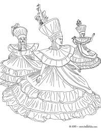 baianas dancers rio carnival coloring pages hellokids