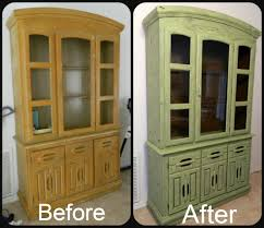 i refinished my old china cabinet i did a faux crackle finish