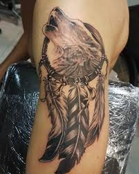 wolf wolf dreamcatcher traditional sleeves