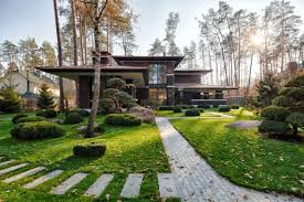 A Frank Lloyd Wright Style Home All The Way Over in Ukraine  Mid