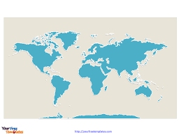 World Blank Map by Free Continent Editable Map Free Powerpoint Templates