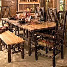 Barnwood  Log Dining Table Styles - Kitchen table styles