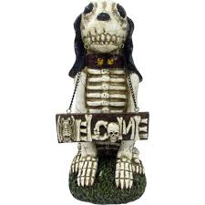 halloween dog skeleton skeleton dog greeter